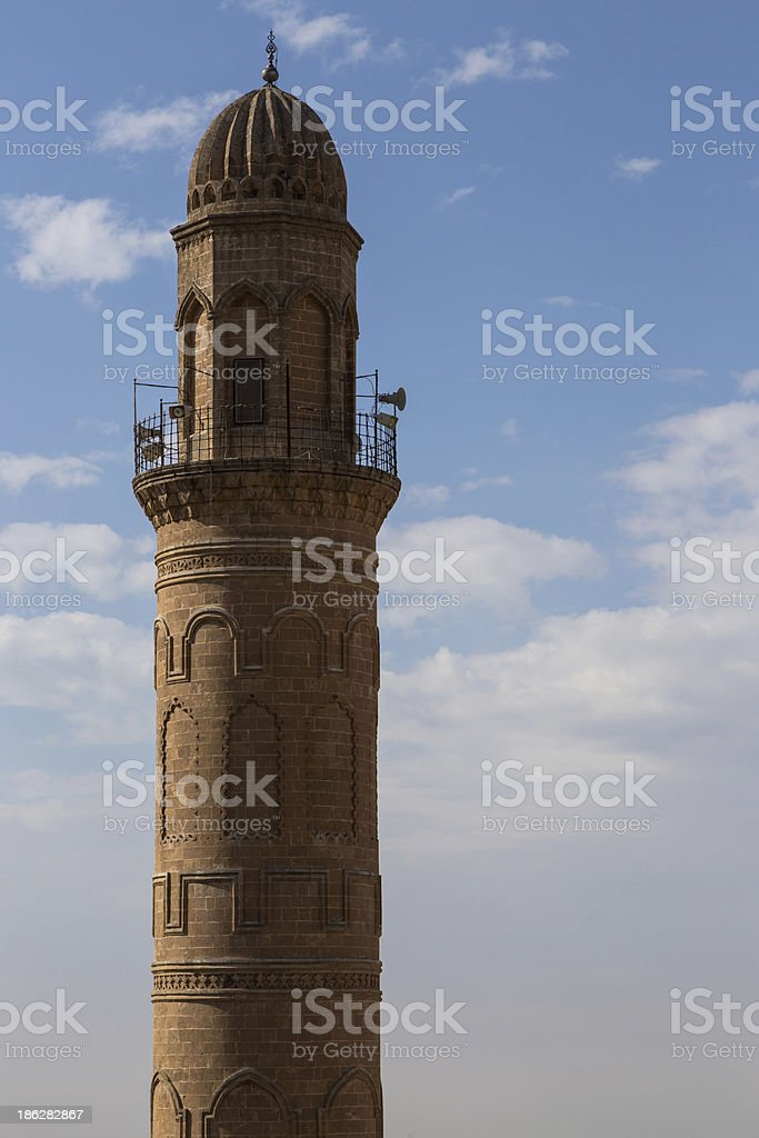The city scape and landscape of Mardin , Turkey royalty-free stock photo