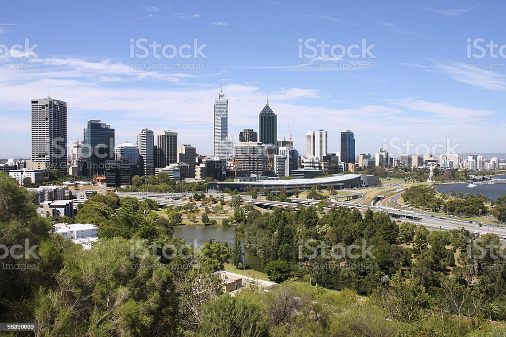 The city skyline of Perth, Australia royalty-free stock photo