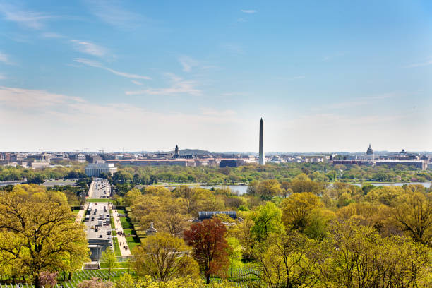 The city Skyline of Washington DC, USA stock photo