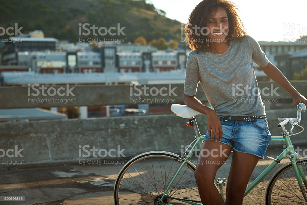 The city took her breath away royalty-free stock photo