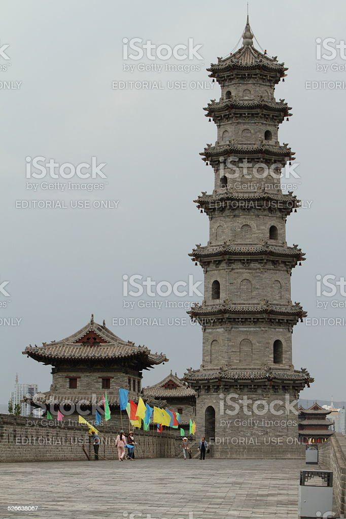 The City Wall of Datong in China stock photo