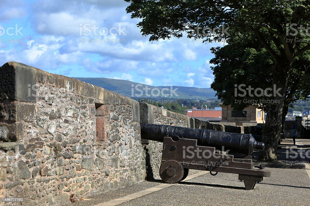 Die Stadtmauer von Derry in Nordirland stock photo