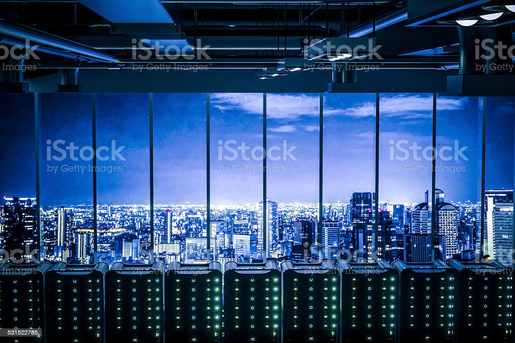 The City's Brain stock photo