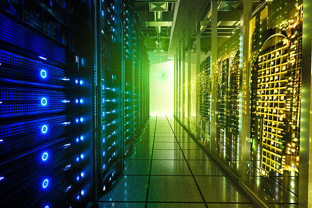 The City's Brain-Data center in the City stock photo