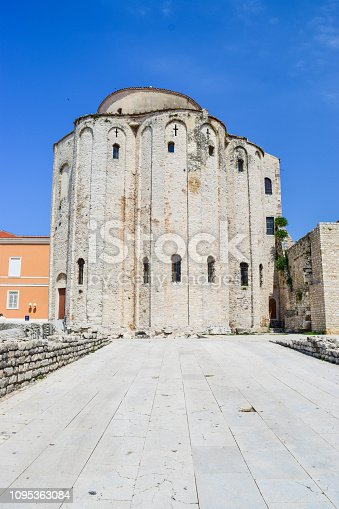 Cityscape and architecture of the old city of Zadar.