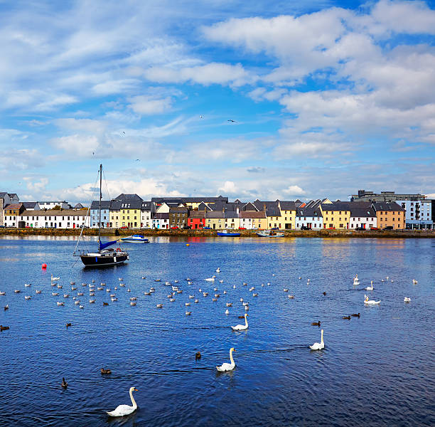 The Claddagh Galway stock photo