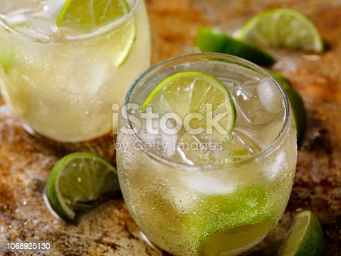 The Classic Moscow Mule Cocktail, Ginger Beer, Vodka and Lime