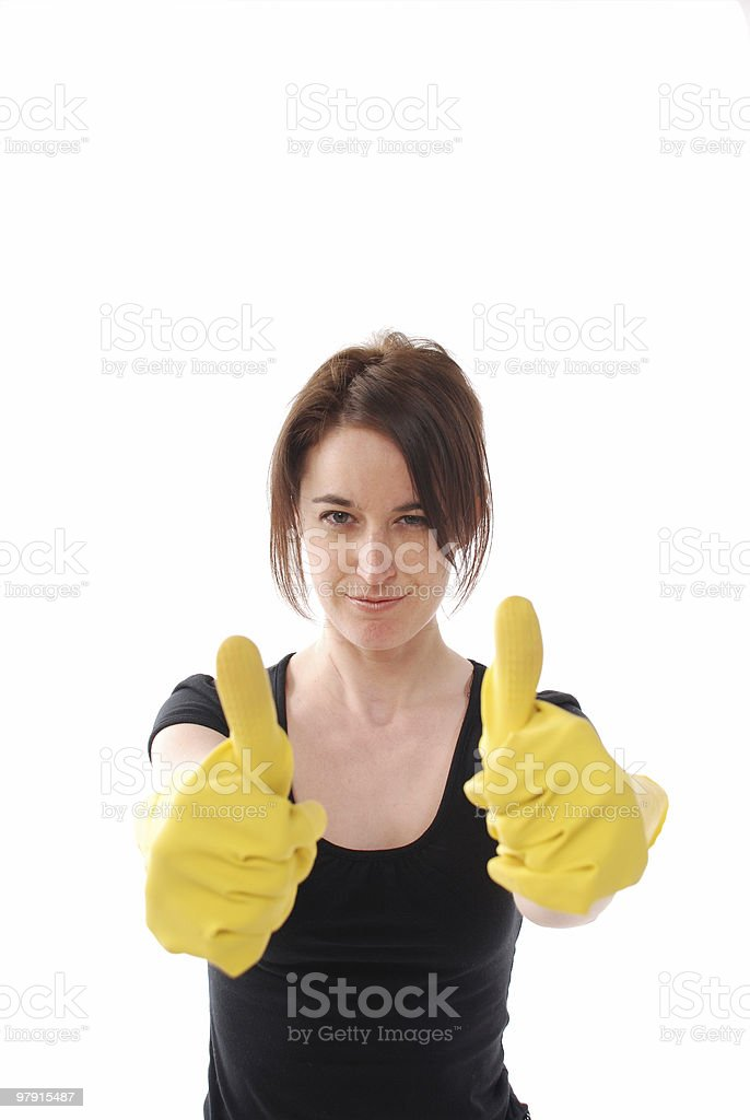 The cleaning is perfect ! royalty-free stock photo
