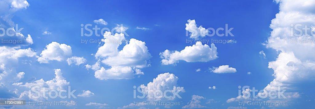 The clear blue sky panorama 46MPix XXXXL stock photo