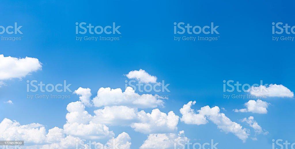 The clear, blue sky - panoramic view, 66MPix XXXXL size royalty-free stock photo