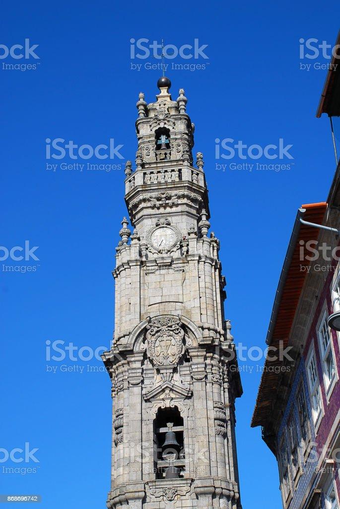 The Clerigos Church (Portuguese: Igreja dos Clerigos), Porto, Portugal stock photo