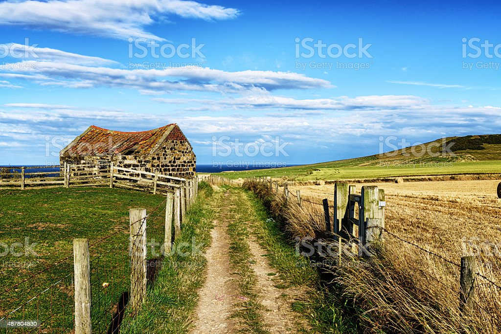 The Cleveland Way near Staithes in North Yorkshire stock photo