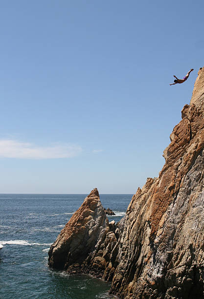 The Cliff Creek diver stock photo