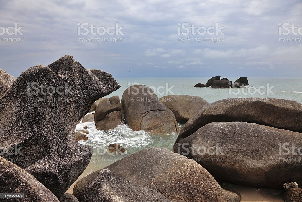 The cliffs and quiet sea royalty-free stock photo