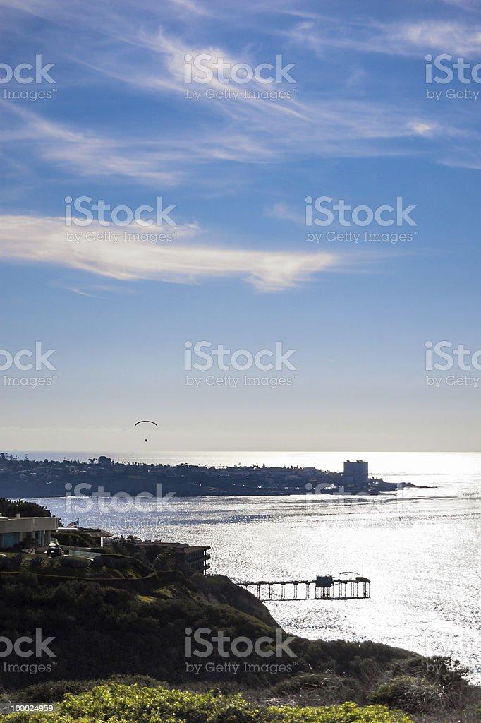 The cliffs, ocean and sky at La Jolla, California royalty-free stock photo