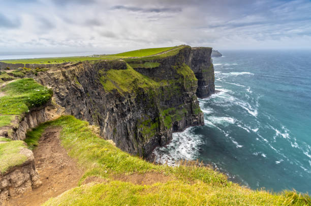 The Cliffs of Moher in Ireland stock photo