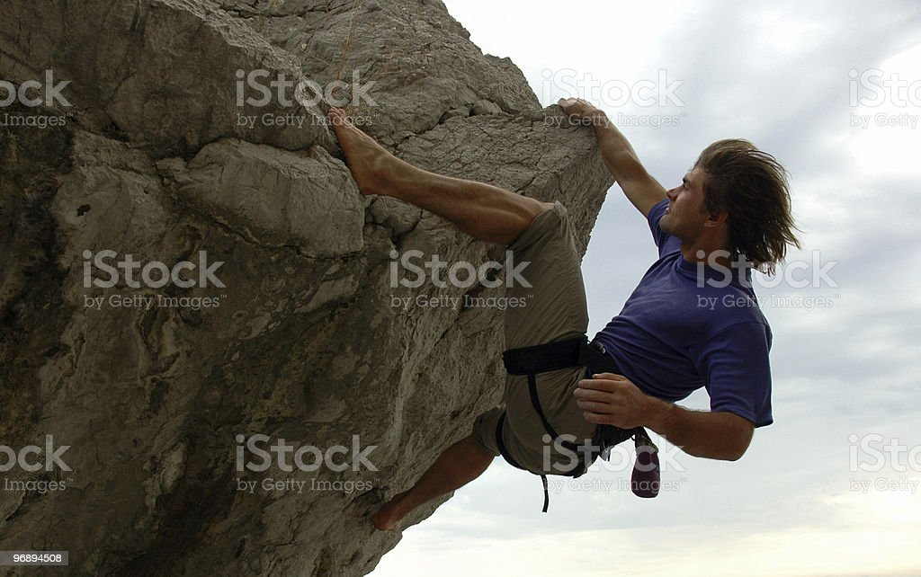 The climb royalty-free stock photo