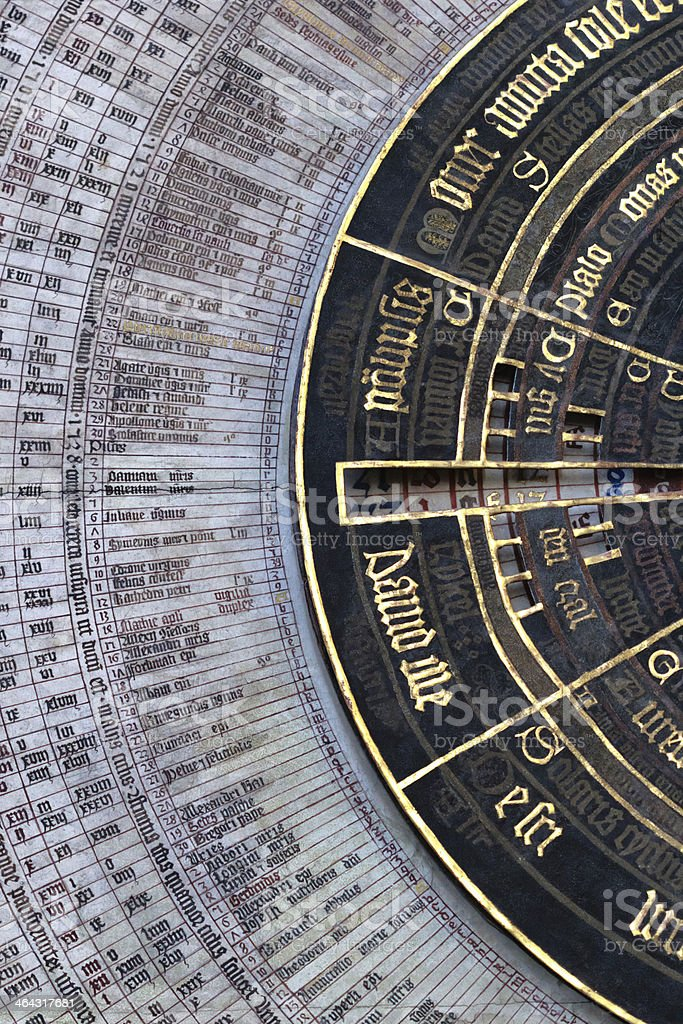The clock dial stock photo