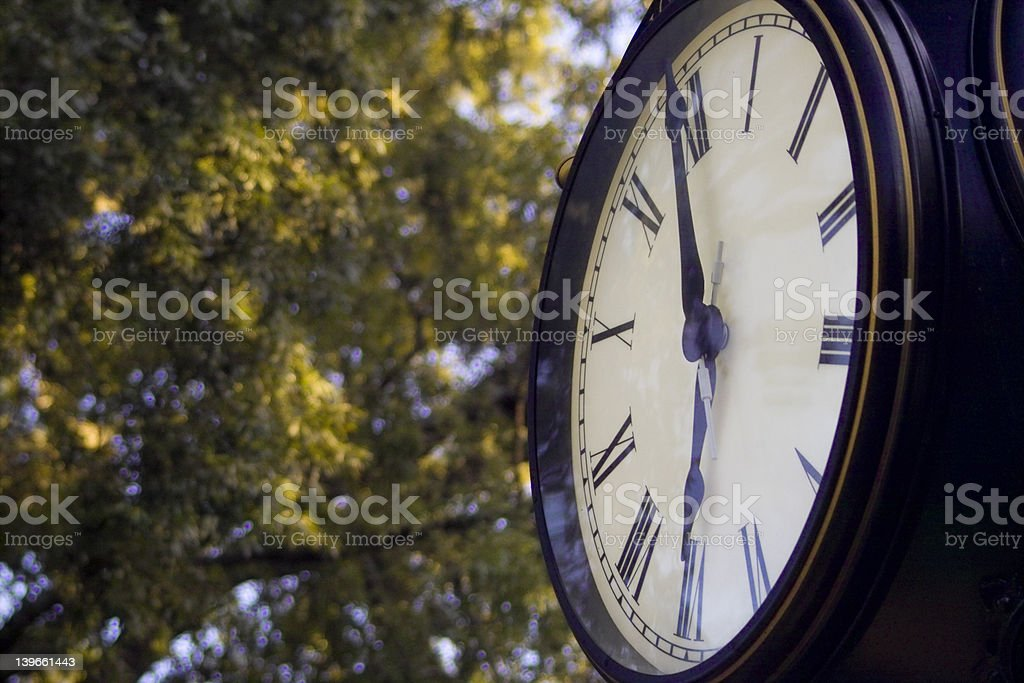 The Clock in the Square royalty-free stock photo
