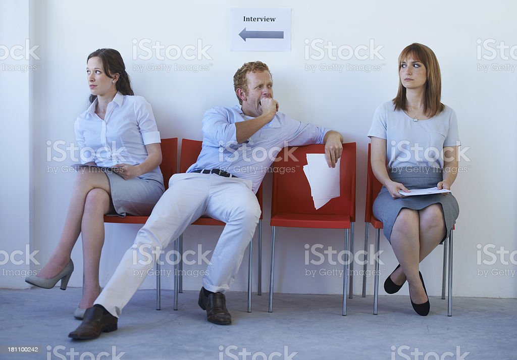 The clock is ticking...finding a new job can be tedious! stock photo