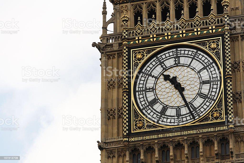 The clock royalty-free stock photo