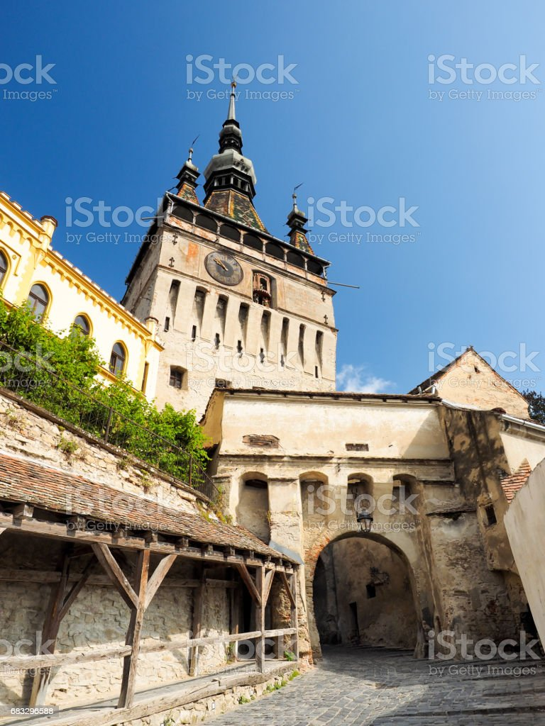 Turnul cu Ceas in Sighisoara stock photo