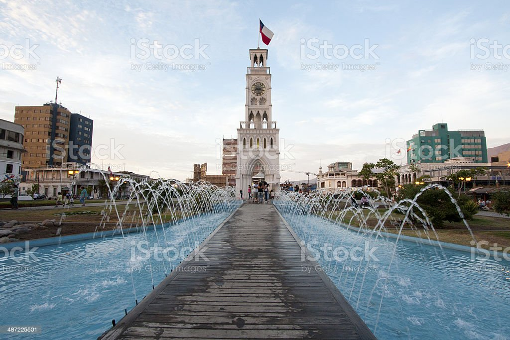 The clock tower of Iquique. stock photo