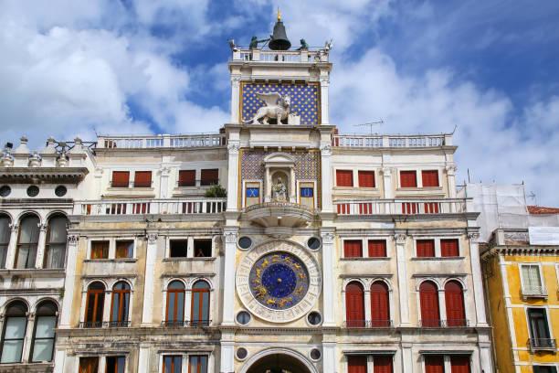Der Uhrturm am Piazza di San Marco, Venedig, Italien – Foto