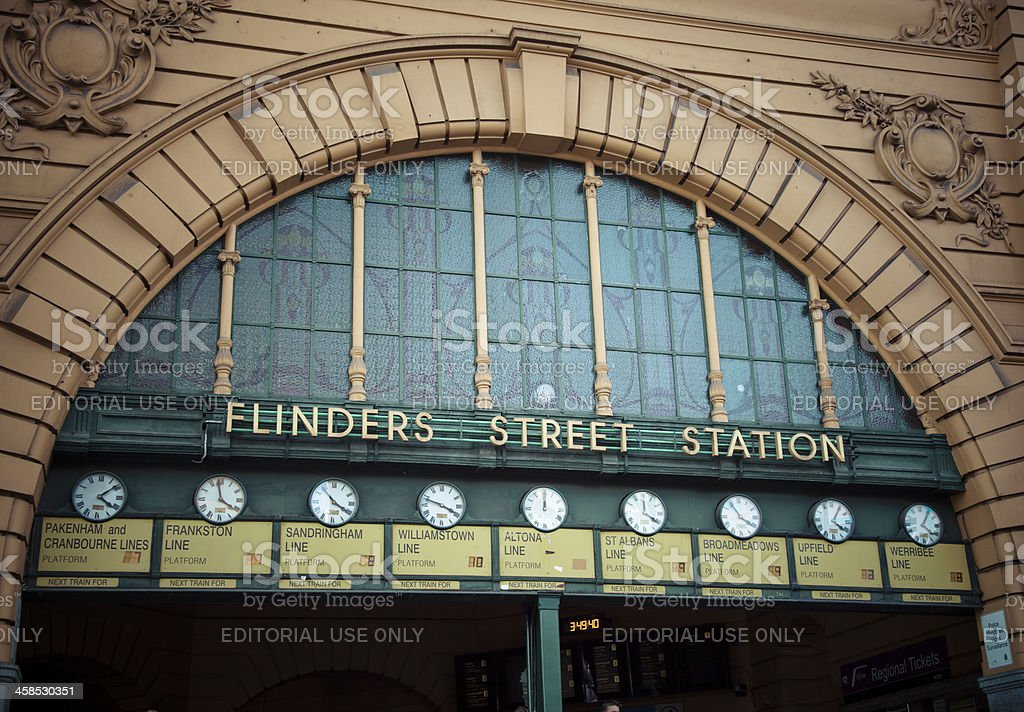 The Clocks at Flinders Street Station stock photo
