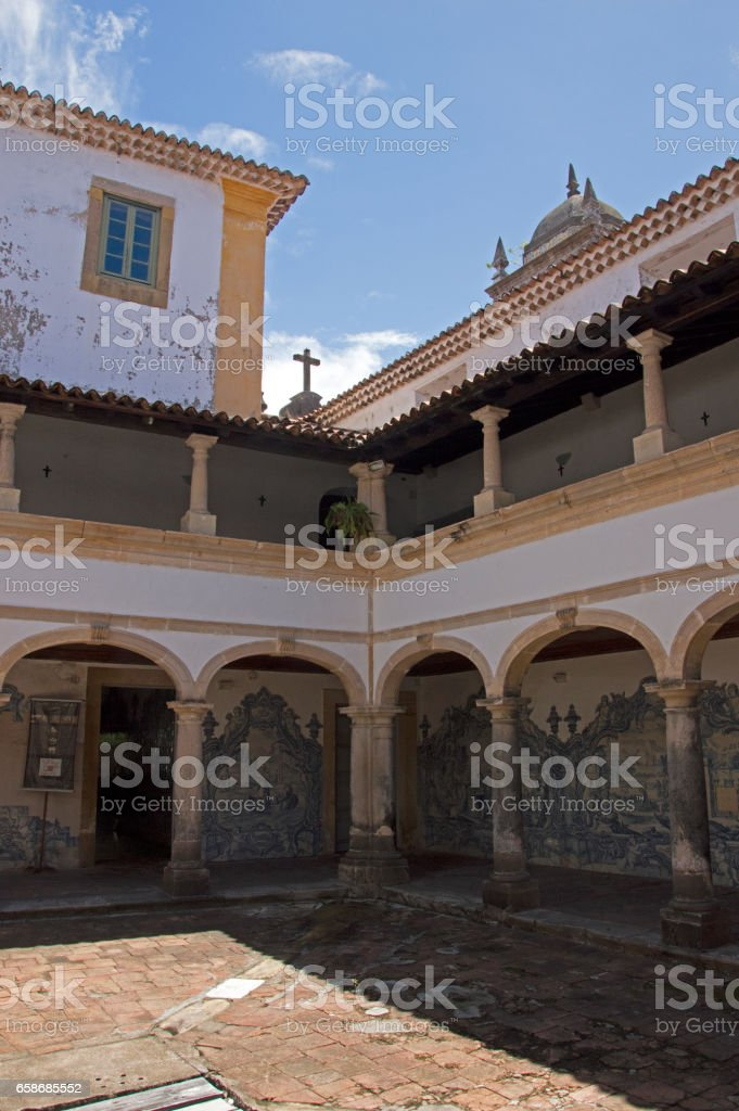 The cloister at Saint Francis of Assisi Convent Olinda Brazil stock photo