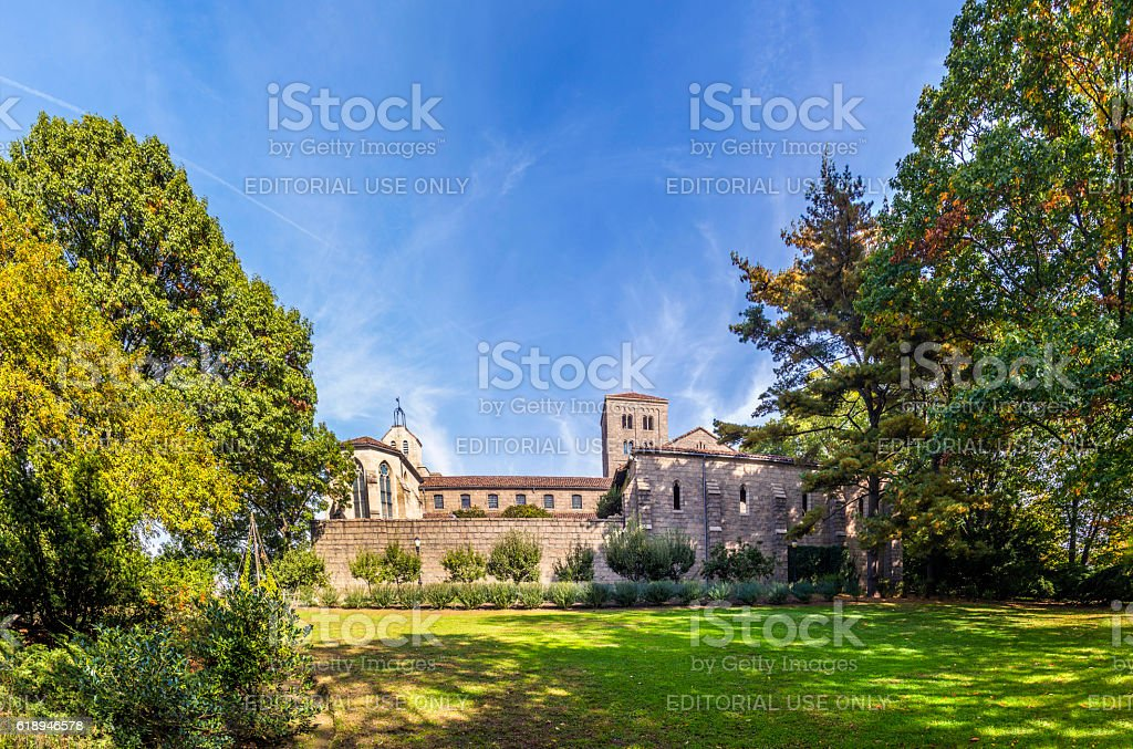 the Cloisters museum in New York stock photo