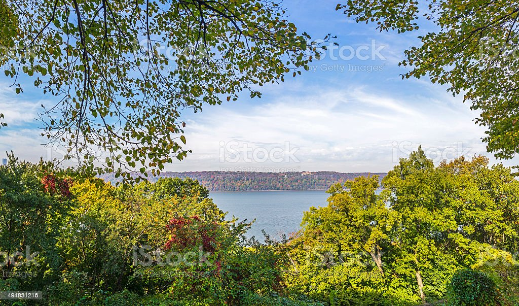 the Cloisters park in New York stock photo