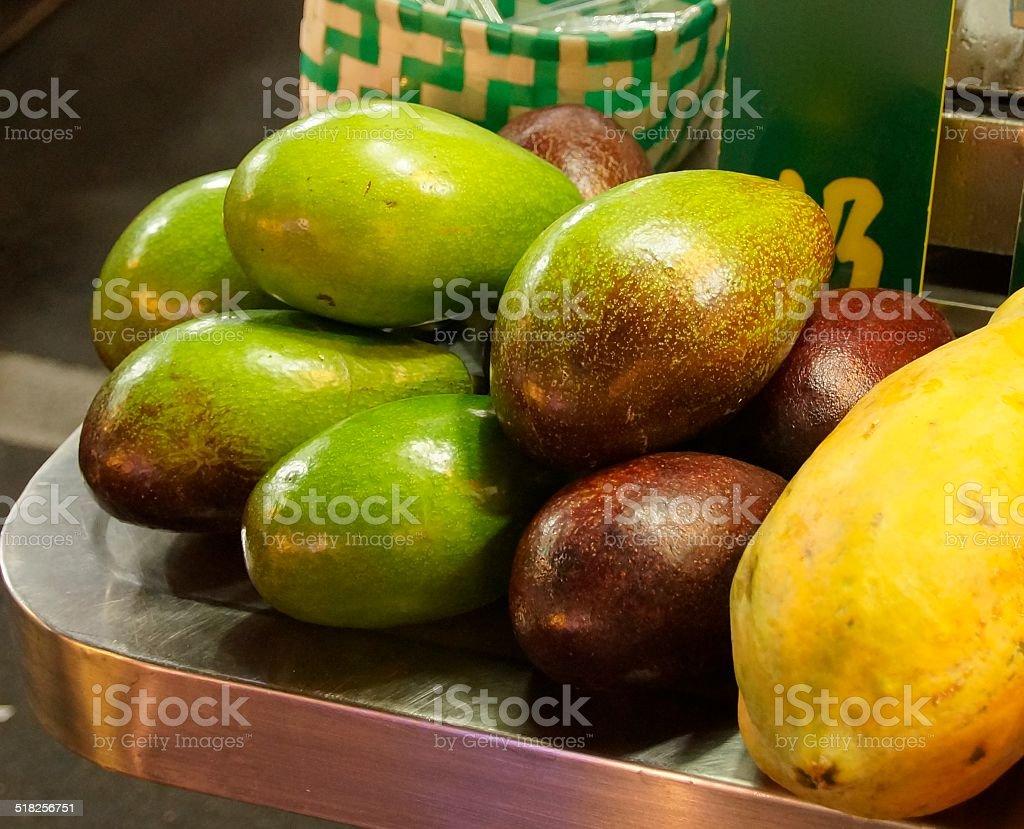 The close view of Avocado stock photo