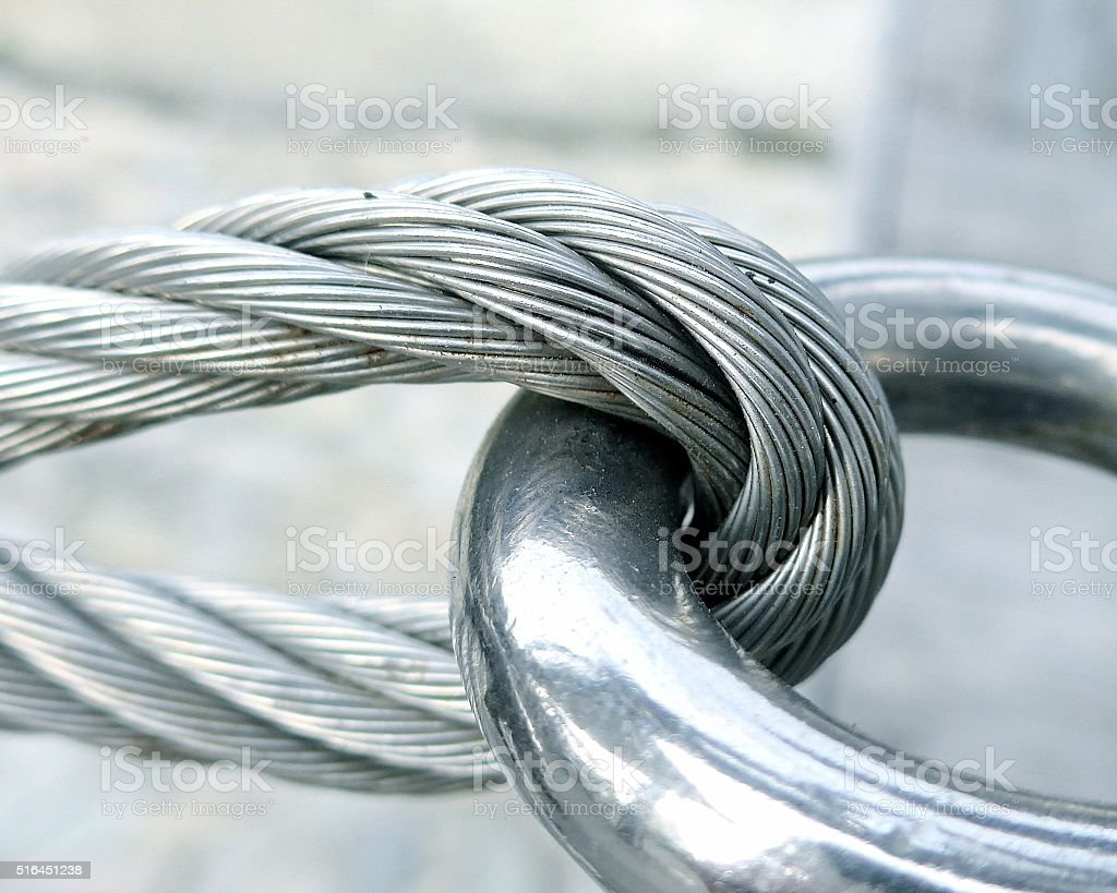 The Close View Of Wire Rope Texture Royalty Free Stock Photo