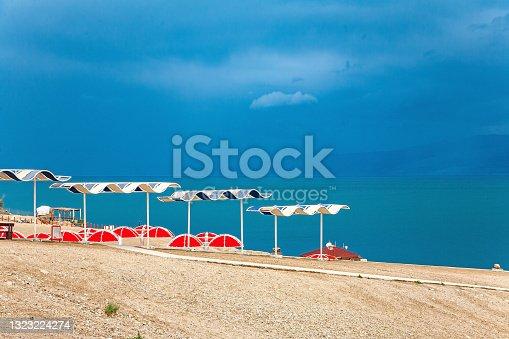 istock The closed salt lake. 1323224274