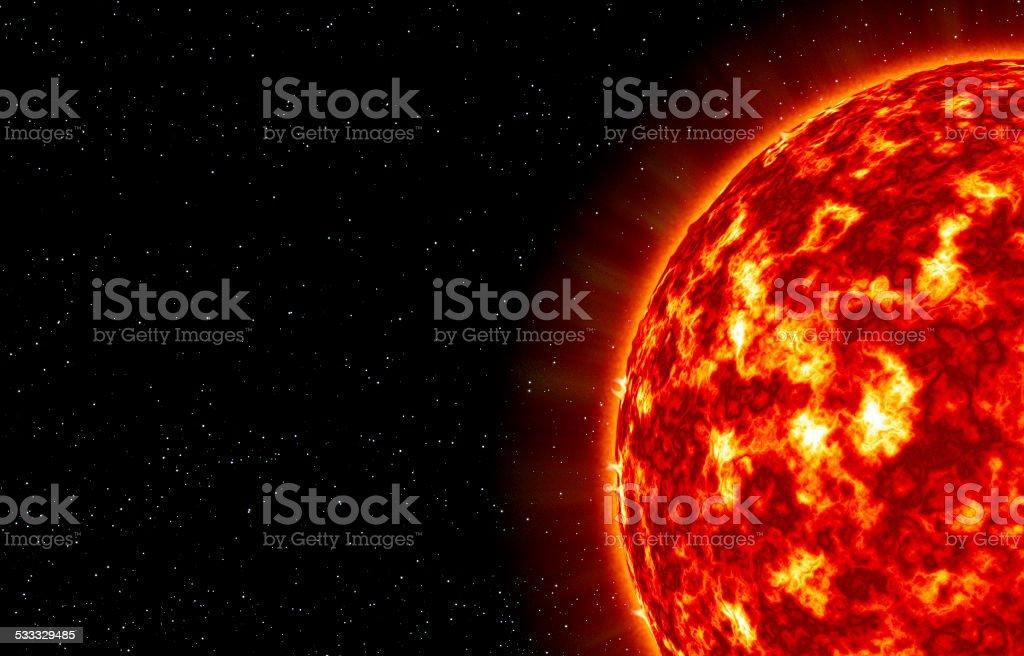 The closeup of Sun star stock photo