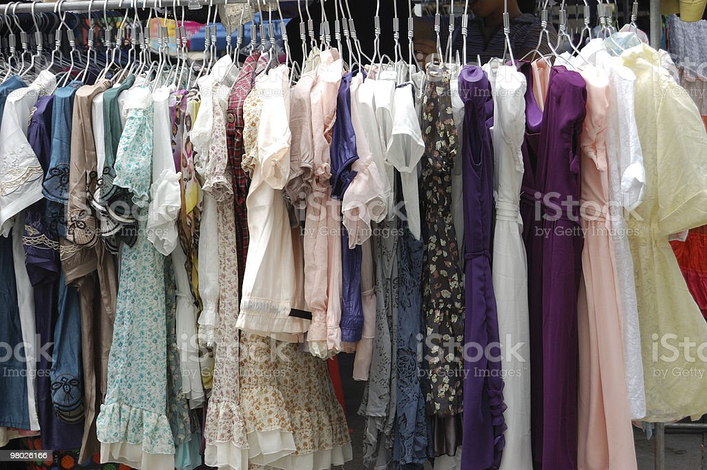 The clothes in store royalty-free stock photo