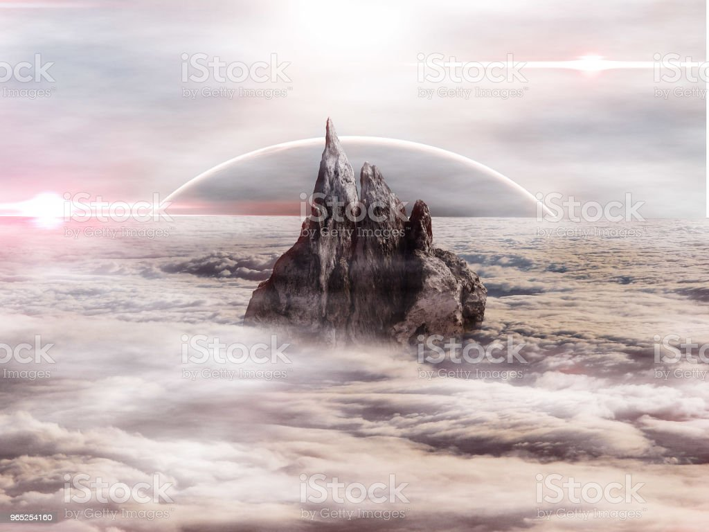 The Cloud City royalty-free stock photo