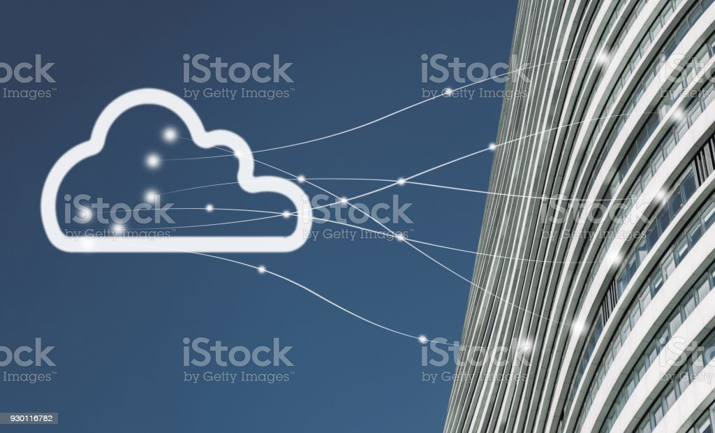 The Cloud Network stock photo