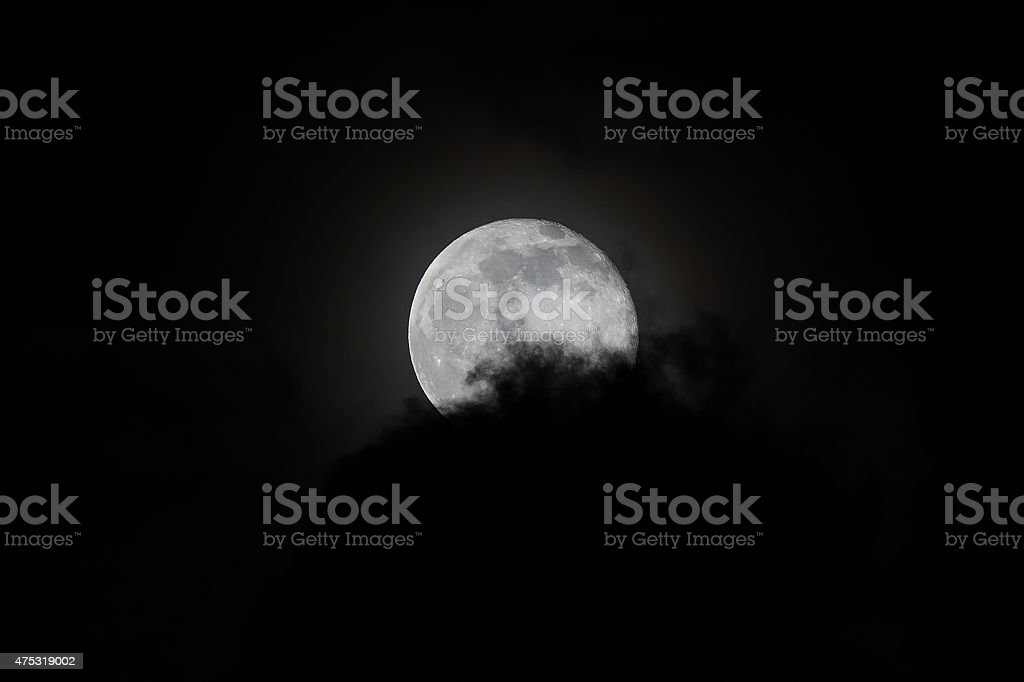 The Cloud That Swallowed the Moon stock photo