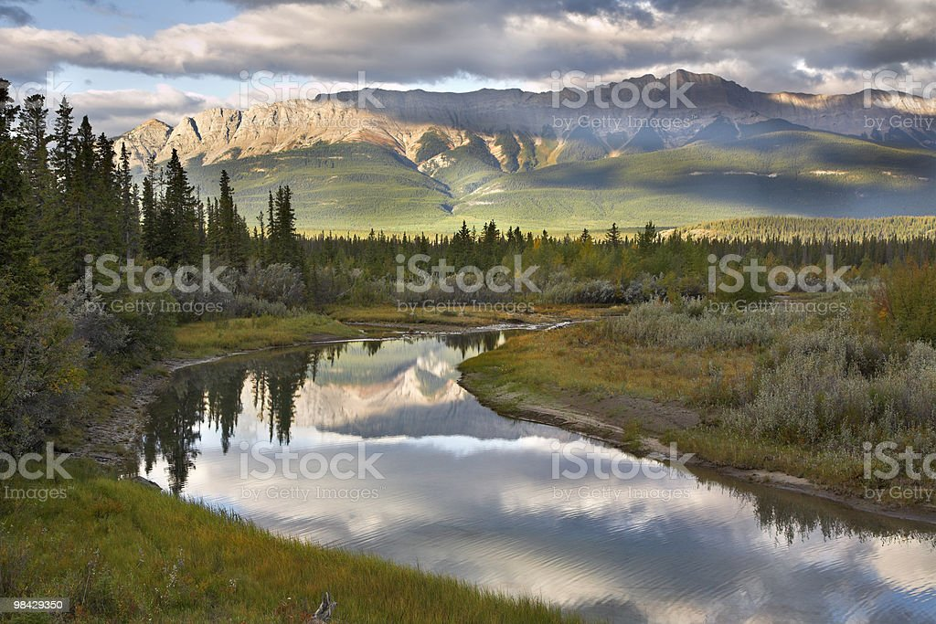 The cloudy sky in mountains royalty-free stock photo