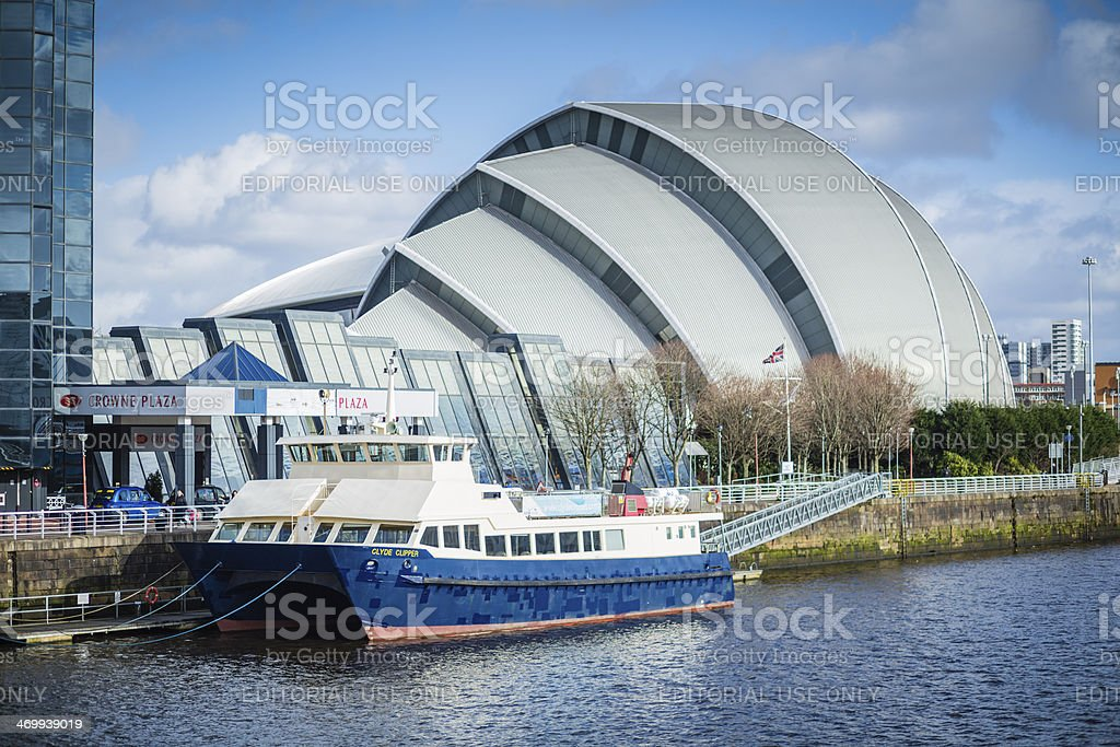 The Clyde Clipper Cruise Boat, Glasgow stock photo