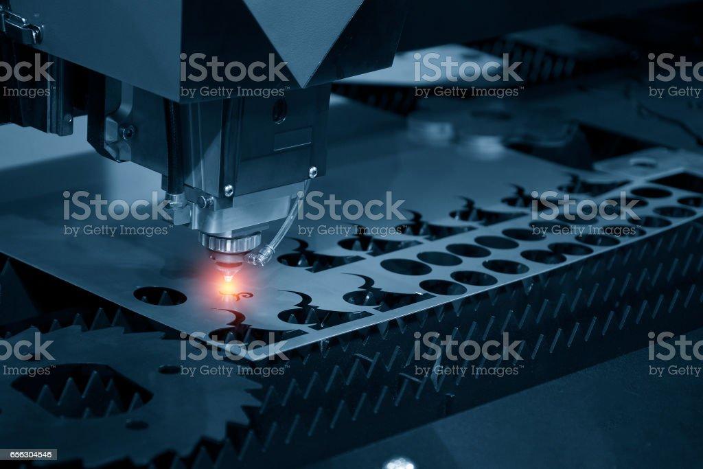 The CNC laser cut machine royalty-free stock photo