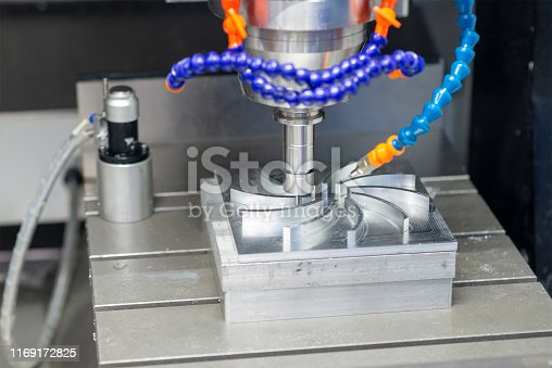 istock The CNC milling machine cutting the aluminium parts with solid ball endmill tools. 1169172825
