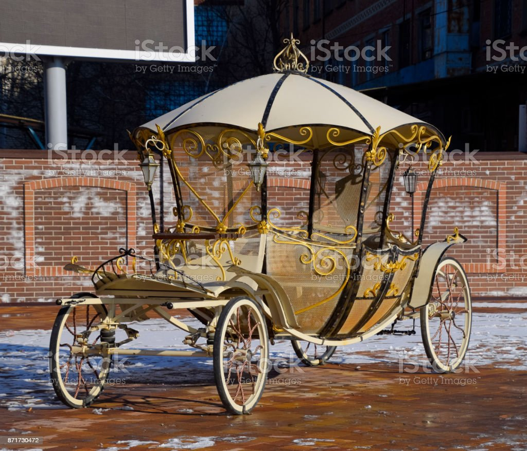 The coach of forged parts. Wrought iron decorative items stock photo