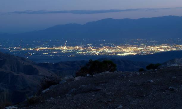 The Coachella Valley at Night stock photo