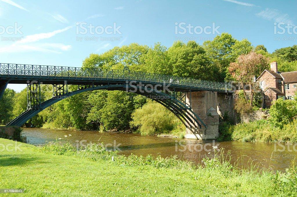 the Coalport Bridge stock photo