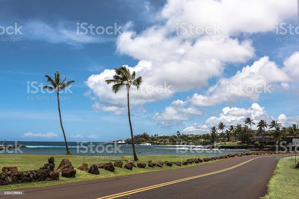 The coast along Maui, Hawaii stock photo