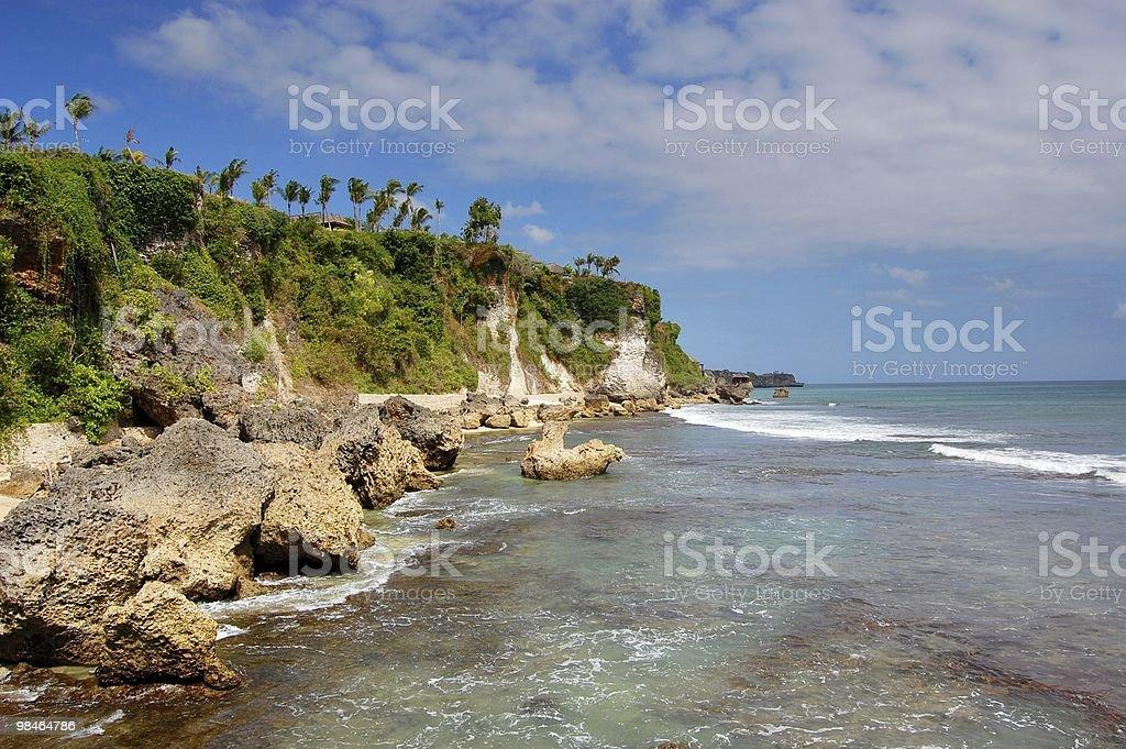 The coast and sea royalty-free stock photo