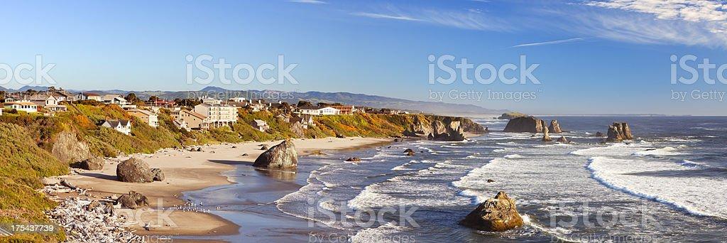 The coast at Bandon, Oregon, USA stock photo
